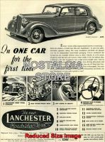1938_Lanchester Roadrider De-Luxe Advert - Retro Car Ads - The Nostalgia Store