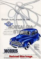 1953 Morris Oxford Advert - Retro Car Ads - The Nostalgia Store