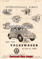 1956 Volswagon Advert - Retro Car Ads - The Nostalgia Store