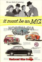 1957 - It Must Be An MG Advert - Retro Car Ads - The Nostalgia Store