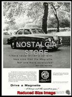 1959 MG Magnette Advert - Retro Car Ads - The Nostalgia Store