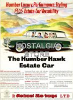 1960 Humber Hawk Estate Advert - Retro Car Ads- The Nostalgia Store