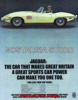 1970 Jaguar XKE Roadster Advert - Retro Car Ads - The Nostalgia Store