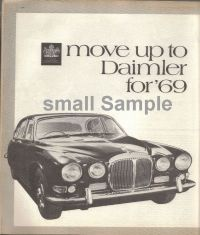 Retro Car Ad Posters - Dainler Sovereign 1968 - The Nostalgia Store