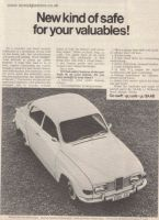 Retro Car Ad Posters - Saab 96 1968 advert - The Nosatgia Store