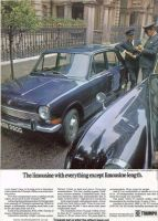 Retro Car Ad Posters - Triumph 1300 1968 colour advert - The Nostalgia Store