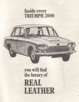 Retro Car Ad Posters - Triumph 2000 1968 Advert - The Nostalgia Store