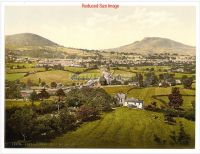 1. WALES - ABERGAVENNY  Victorian Colour Images - Holy Mountain