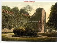 2. WALES - ABERGAVENNY Castle  Victorian Colour Images