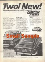 Fiat 850 1968 advert - Retro Car Ad Poster - The Nostalgia store