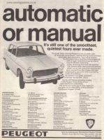 Peugeot 404 1968 - Retro Car Ad Poster - The Nostalgia Store