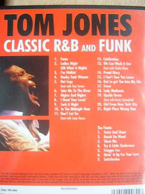 Tom Jones Classic R Amp B Dvd The Nostalgia Store