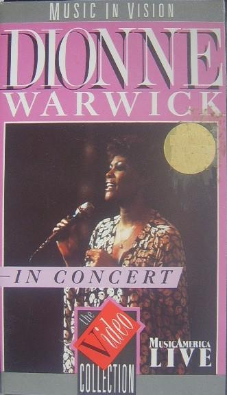 Dionne Warwick Live In Concert Vhs Video The Nostalgia