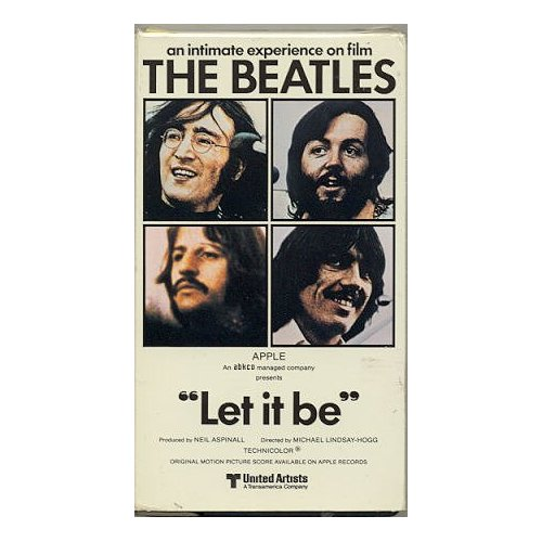 Let It Be The Beatles Vhs Pal Video The Nostalgia
